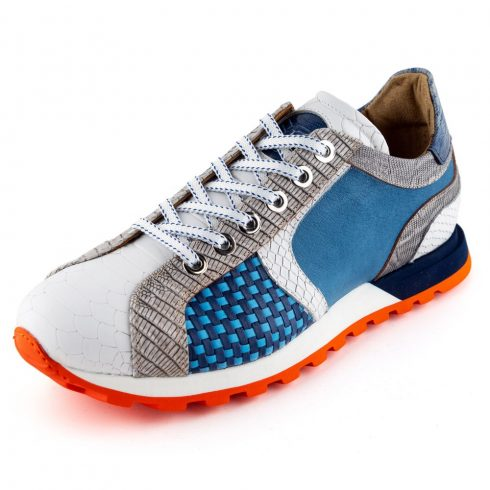 LORENZI Sportcipő.   12281 Fonott kék